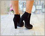 Демисезонные женские ботинки на каблучке  38р  полномерные, фото 4