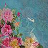 Снуд хомут голубого цвета с цветами шифон , фото 9