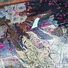 Снуд хомут голубого цвета с цветами шифон , фото 8