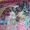 Снуд хомут голубого цвета с цветами шифон , фото 6