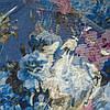 Снуд хомут голубого цвета с цветами шифон , фото 3