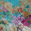 Снуд хомут голубого цвета с цветами шифон , фото 2