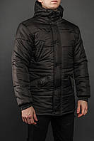 Зимняя мужская парка цвет черный бренд ТУР модель Bizon