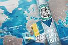 Скретч-карта мира в тубусе Silver на украинском