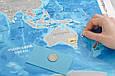 Скретч-карта мира в тубусе Silver на украинском, фото 7