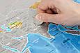 Скретч-карта мира в тубусе Silver на украинском, фото 2