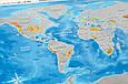 Скретч-карта мира в тубусе Silver на украинском, фото 3