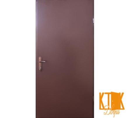 """Входные двери на улицу Металл/Металл серии """"Технические"""" (коричневая шагрень RAL 8017)"""