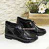 """Жіночі черевики на шнурівці, натуральна шкіра """"пітон"""", фото 5"""