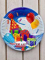 "Одноразовые тарелки 10 шт ""Подарки"" 18 см Bambi"