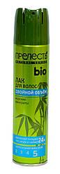 """Лак для волос Прелесть Bio """"Двойной объем"""" с морскими минералами 5 фиксация 210 мл"""