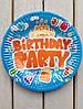 """Одноразовые тарелки 10 шт """"Birthday Party"""" голубые 18 см"""