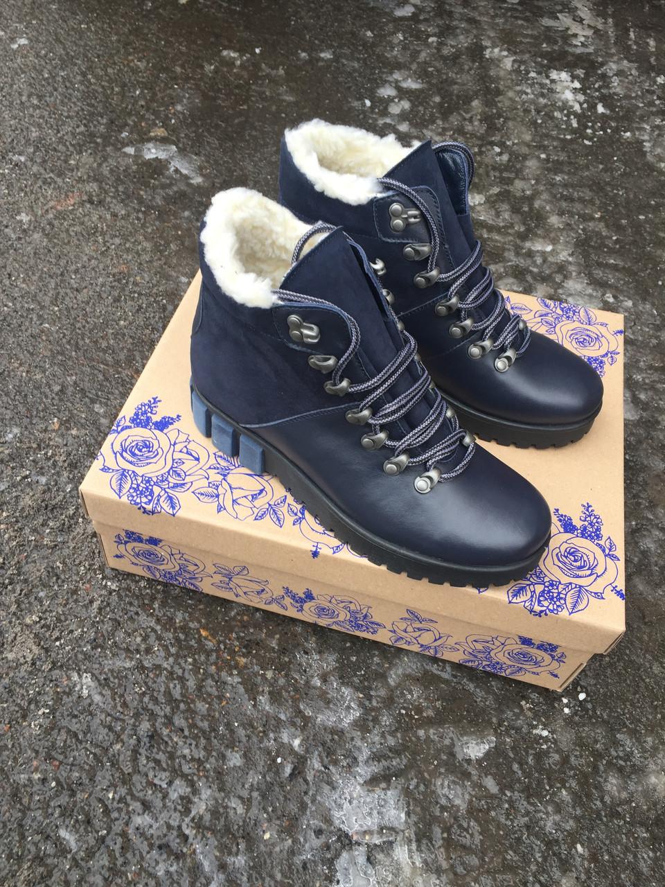 Женские зимние ботинки натуральная кожа и мех Турции