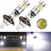 Авто-лампы с линзами H1 5 COB LED 6000K лучше за ксенон и галогенки