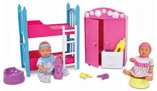 Ляльковий набір 2 міні-пупса і спальна кімната NBB Sіmba