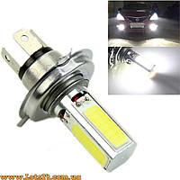 Авто-лампы H4 4 COB LED 6000K (светодиодные лед лампочки, лучше за галогеновые, ксенон, ДХО, DRL)