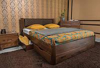 Кровать полуторная Грейс с ящиками