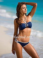 Раздельный женский купальник, синего цвета, новинка 2018 года, фабричное качество, размер M