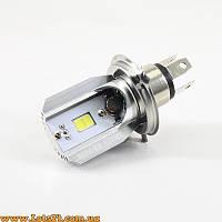 Лампы H4 8W LED 6000K с радиатором на мотоцикл и скутер (лучше чем галогеновые и ксеноновые)