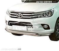 Защитная дуга двойная для Toyota Hilux 2015-…от ИМ Автообвес (п.к. ТТК)