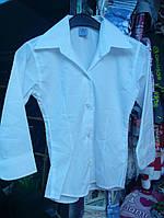 Белая рубашка для девочкина 12  13 14 лет  классика