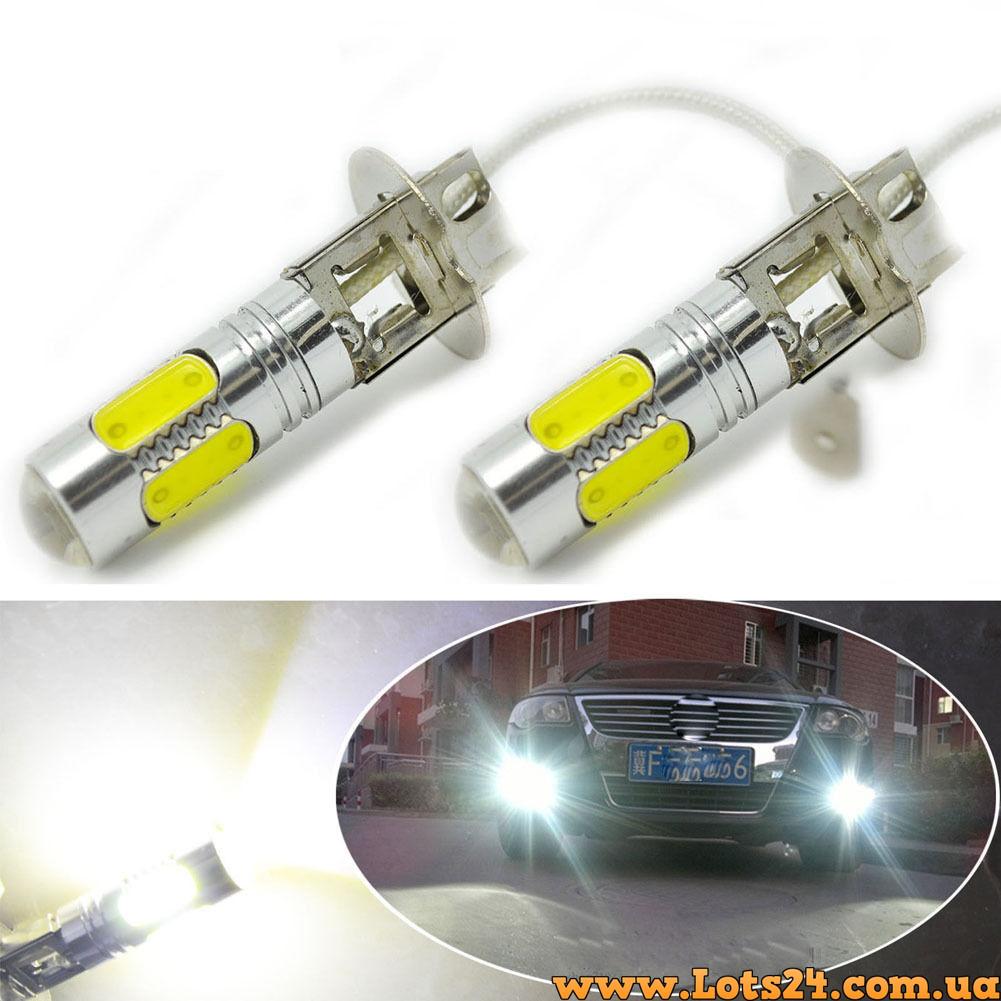 авто лампы H3 5 Cob Led 75w светодиодные лампочки для авто лучше