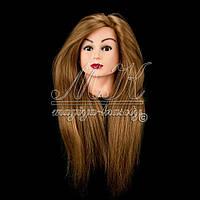 Учебный манекен для парикмахера 100% натуральных волос длина 75-80 см