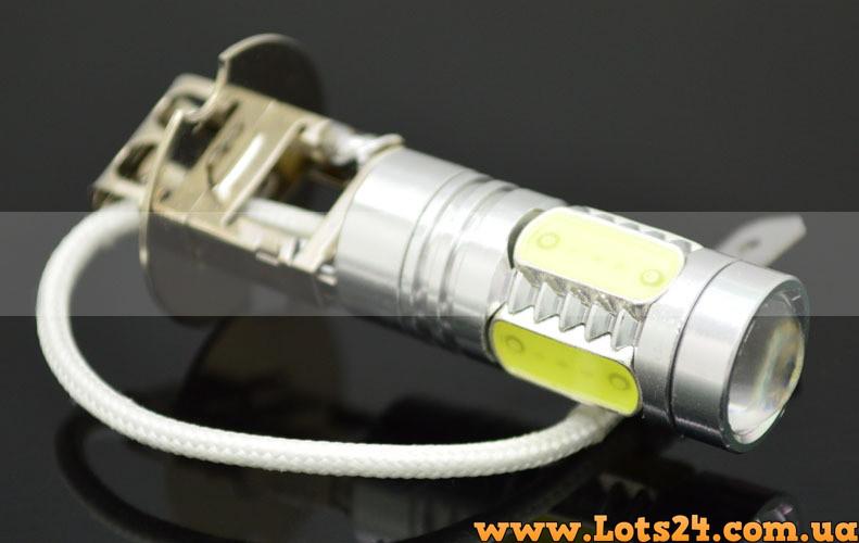 авто лампы H3 5 Cob Led 6000k светодиодные лампочки для авто лучше