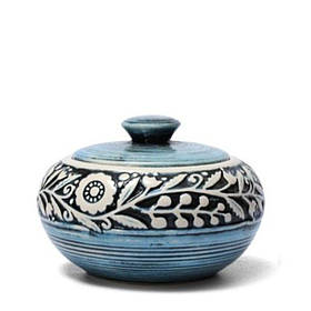 Сахарница - 450 мл, Голубая (Manna Ceramics)