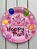 """Одноразовые тарелки 10 шт """"Happy Party"""" розовые 23 см Bambi"""