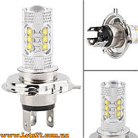 Авто-лампы H4 16 CREE LED 6000K (светодиодные лед лампочки, лучше за галогеновые, ксенон, ДХО, DRL)
