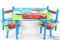"""Набор детской деревянной мебели Столик + 2 стульчика """"Тачки"""" BAMBI"""