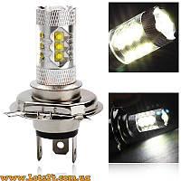Авто-лампы H4 16 CREE LED 6000K (светодиодные лед лампочки, лучше за галогеновые, ксенон, DRL, ДХО)