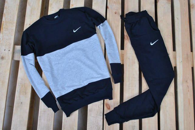 Мужской спортивный костюм Nike/ Костюм Nike черно-серый, фото 2