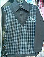 Рубашка - жилет обманка нарядная для мальчика