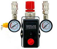 Переключатель давления компрессора с манометром 380v