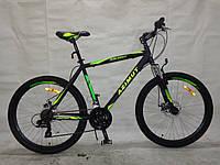 Горный подростковый велосипед 26 дюйма  Azimut Spark  в максимальной комплектации зеленый ***