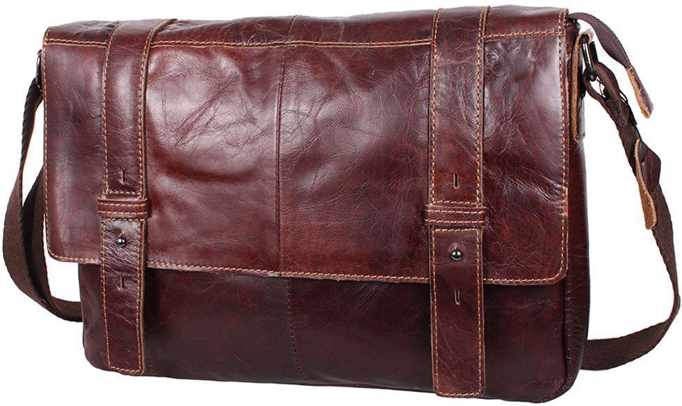 Мужская сумка из кожи PRE1862BROWN, коричневый