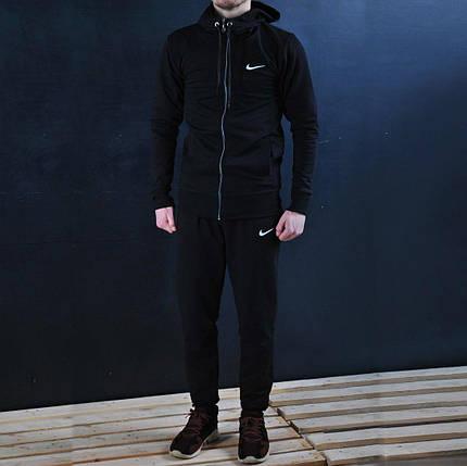 Спортивная кофта В стиле Nike/ Найк капюшон черный, фото 2