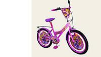 """Велосипед двухколесный 20 дюймов """"Рапунцель"""" со звонком, зеркалом, ручным тормозом"""