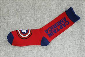 Носки Marvel - высокие - красные - Captain America