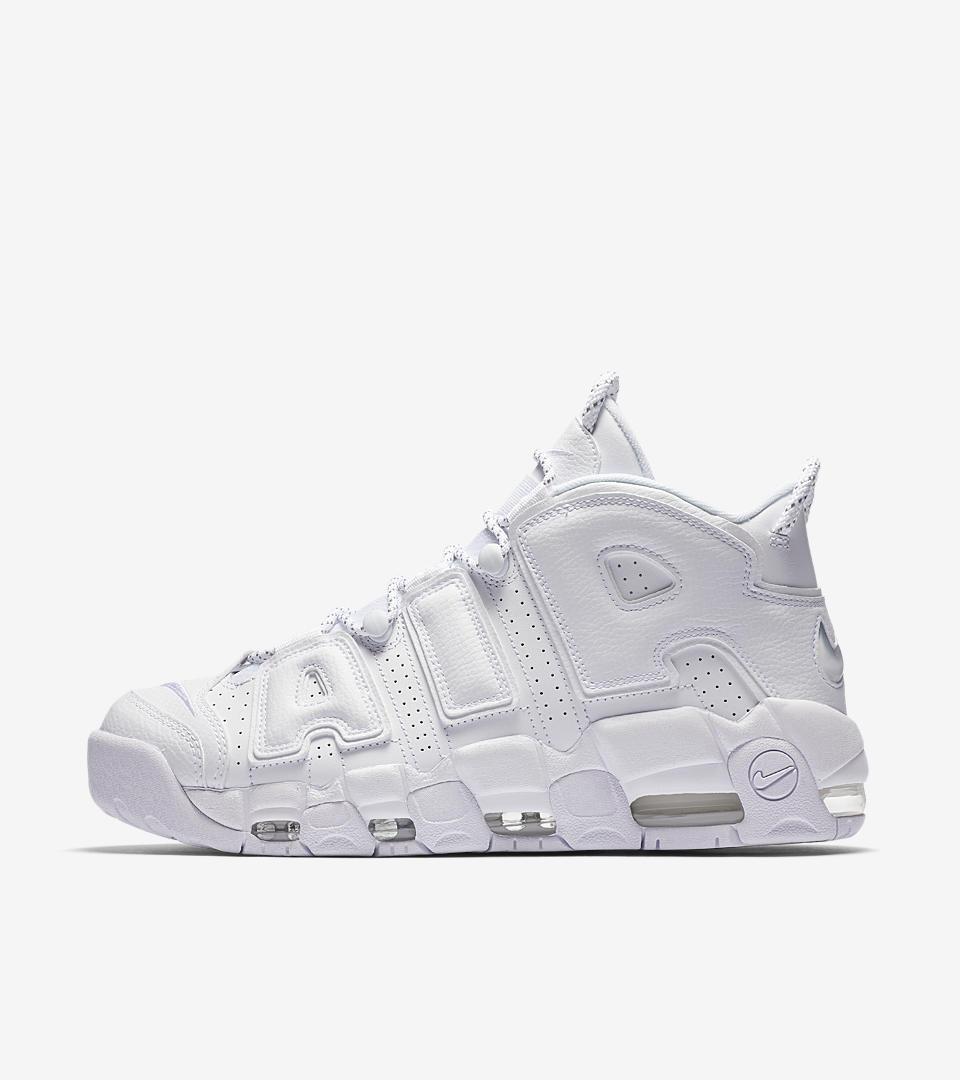 Женские кроссовки Nike Air More Uptempo 2018 White белые