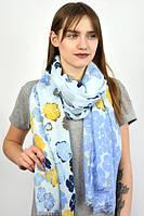 Женский шарф синего цвета