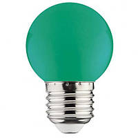 Светодиодная лампа Horoz 1W Е27 зеленая