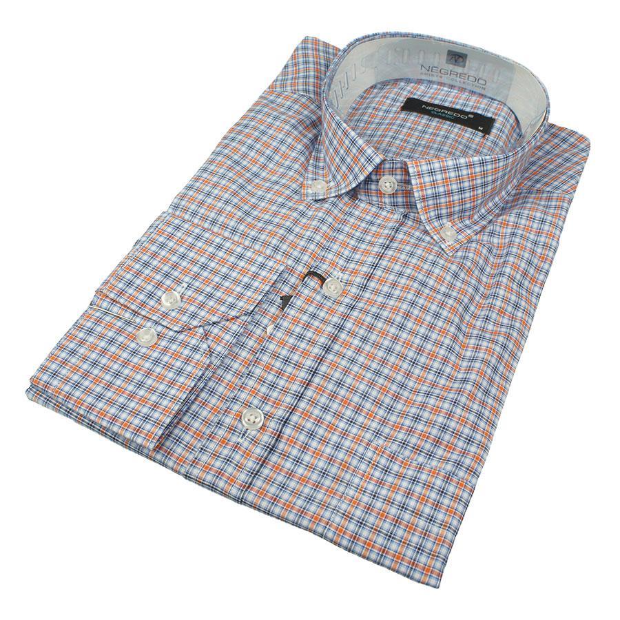 Мужские рубашки в мелкую клетку размер S 0250С