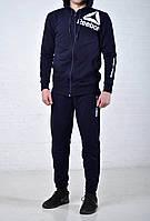 Мужской спортивный костюм Reebok CrossFit c капюшоном синего цвета