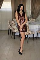 """Платье  горячий шоколад  """"пайетка"""", фото 1"""