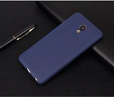 Чехол Meizu M6S 5.7'' силикон soft touch бампер темно-синий