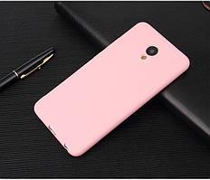Чехол Meizu M6S 5.7'' силикон soft touch бампер светло-розовый