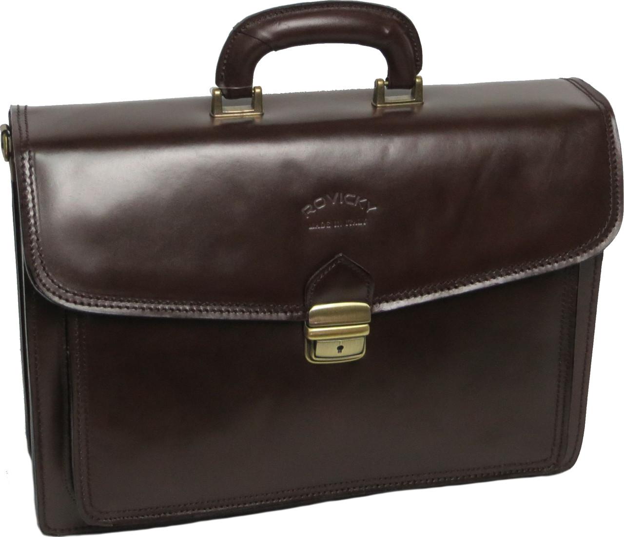 Мужской кожаный портфель Rovicky